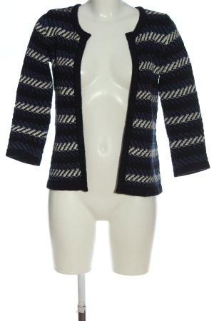 1.2.3 Paris Cardigan bleu-blanc motif rayé style d'affaires