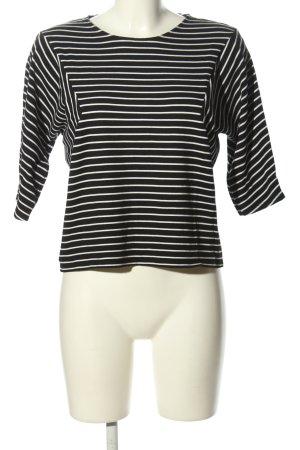 1.2.3 Paris Koszula o skróconym kroju czarny-biały Wzór w paski