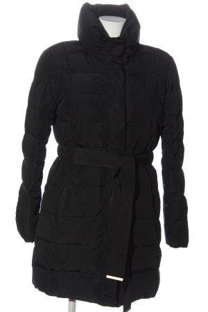 1.2.3 Paris Doudoune noir motif de courtepointe style décontracté