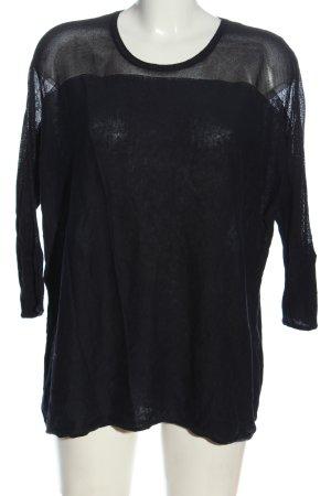 1.2.3 Paris Feinstrickpullover schwarz Casual-Look