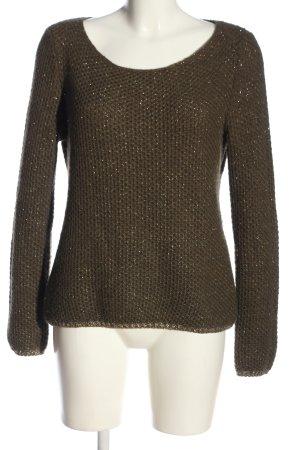 1.2.3 Paris Crochet Sweater brown casual look