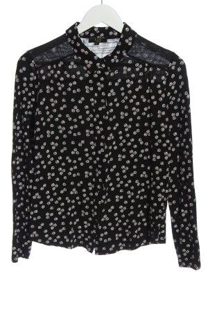 1.2.3 Paris Hemd-Bluse schwarz-weiß Allover-Druck Casual-Look