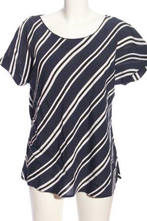 1.2.3 Paris Blouse-chemisier bleu-blanc motif rayé style décontracté