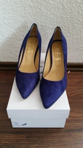 1.2.3 Paris High Heels blue leather