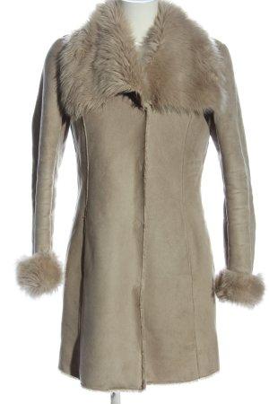 1.2.3 Paris Cappotto in eco pelliccia rosa stile casual