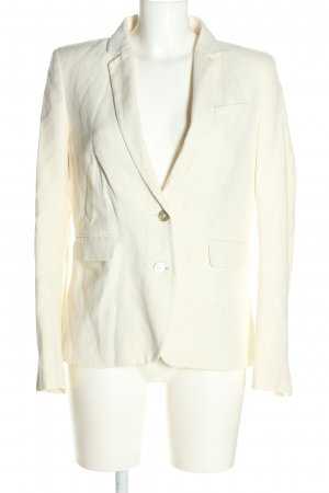 1.2.3 Paris Blazer court blanc cassé style d'affaires