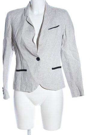 1.2.3 Paris Blazer court gris clair moucheté style d'affaires