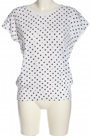 1.2.3 Paris Pull à manches courtes blanc-noir motif de tache