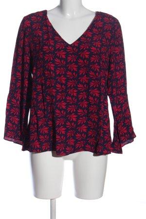 1.2.3 Paris Langarm-Bluse rot-schwarz Allover-Druck Casual-Look