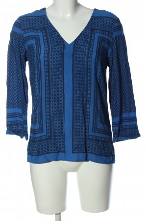 1.2.3 Paris Long Sleeve Blouse blue-black graphic pattern casual look