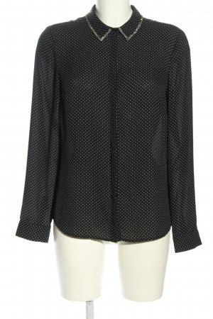 1.2.3 Paris Langarm-Bluse schwarz-weiß Punktemuster Casual-Look