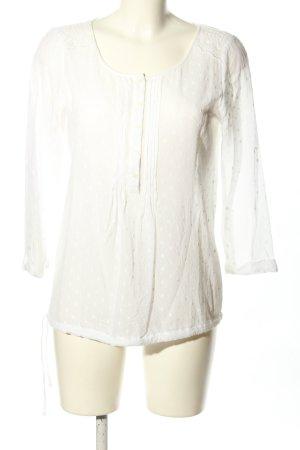 1.2.3 Paris Bluzka z długim rękawem biały Wzór w kropki W stylu casual