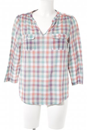 1.2.3 Paris Langarm-Bluse Karomuster Country-Look
