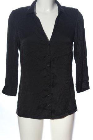 1.2.3 Paris Camicia a maniche lunghe nero stile professionale