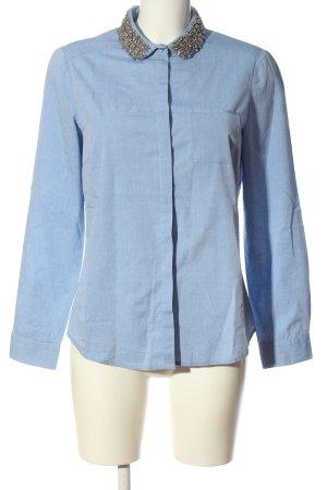 1.2.3 Paris Camisa de manga larga azul estilo «business»