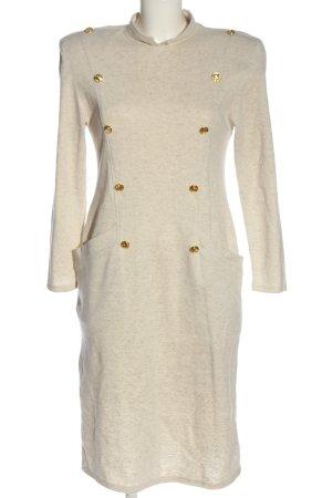 1.2.3 Paris Sukienka z długim rękawem w kolorze białej wełny