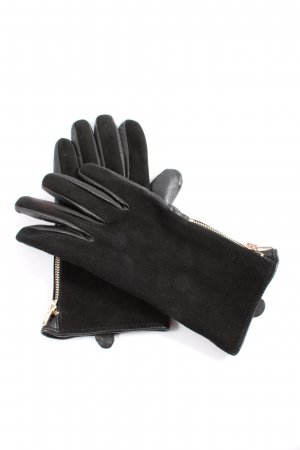 1.2.3 Paris Leather Gloves black business style