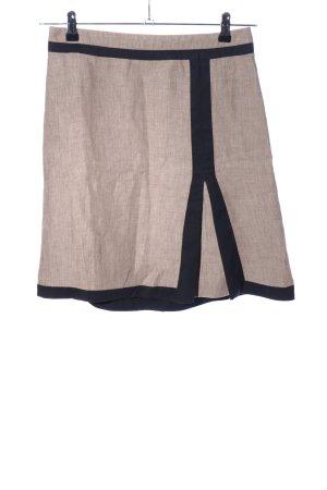 1.2.3 Paris Jupe en lin crème-noir moucheté style décontracté