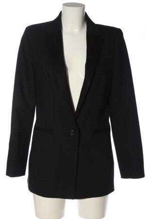 1.2.3 Paris Long-Blazer schwarz Webmuster Business-Look
