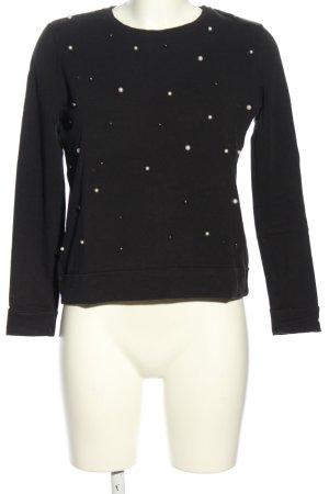 1.2.3 Paris Koszulka z długim rękawem czarny W stylu casual