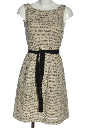1.2.3 Paris Robe mi-longue crème-noir motif abstrait élégant