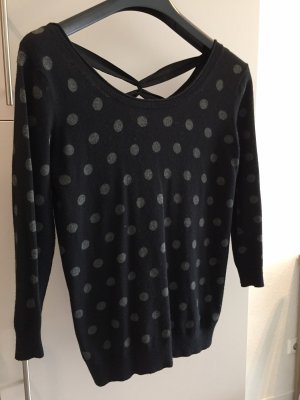1.2.3 Paris Maglione lavorato a maglia nero-grigio
