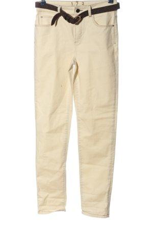 1.2.3 Paris Jeans cigarette crème-brun style décontracté