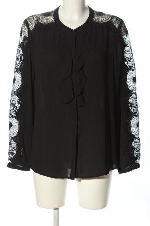 1.2.3 Paris Rüschen-Bluse schwarz Casual-Look