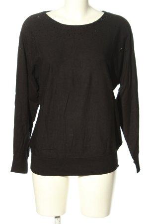 1.2.3 Paris Jersey de cuello redondo marrón look casual