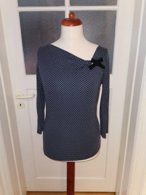 1.2.3 Paris Boothalsshirt wit-blauw