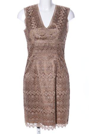 1.2.3 Paris Robe en dentelle brun motif graphique élégant