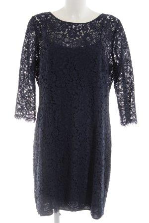 1.2.3 Paris Kanten jurk blauw elegant