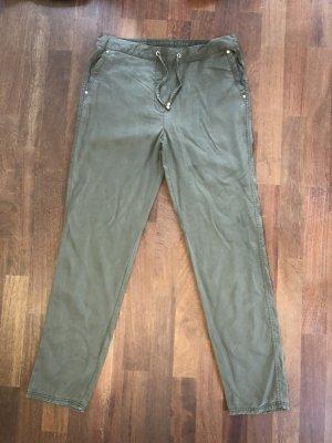 1.2.3. UN DEUX TROIS Paris Spodnie materiałowe zielono-szary-khaki