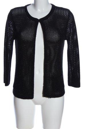 1.2.3 Paris Cardigan in maglia nero punto treccia stile casual