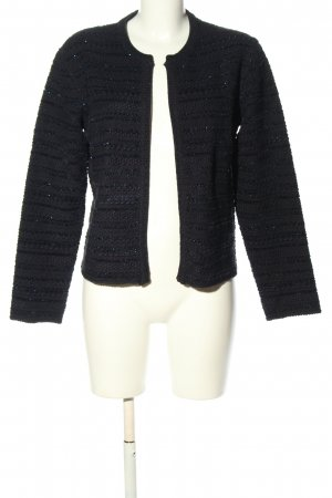 1.2.3 Paris Knitted Cardigan black striped pattern casual look