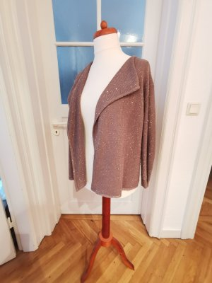 1.2.3 Paris Cardigan in maglia oro-grigio-verde