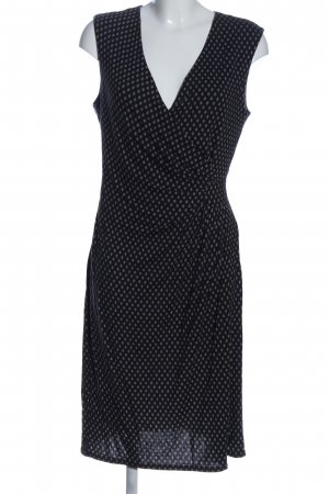 1.2.3 Paris Knitted Dress black-white allover print casual look