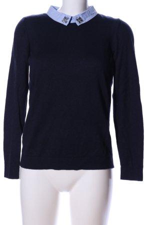 1.2.3 Paris Pull tricoté noir style décontracté