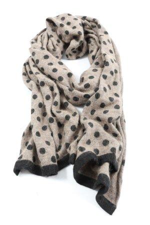 1.2.3 Paris Écharpe en tricot blanc cassé-noir motif de tache