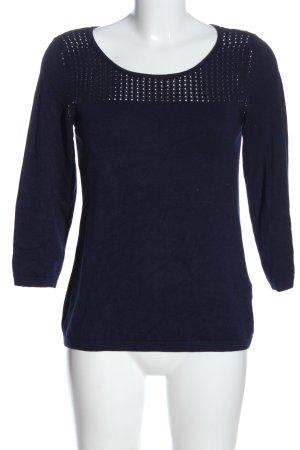 1.2.3 Paris Camisa tejida azul look casual