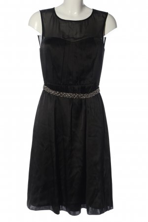 1.2.3 Paris Robe à bretelles noir style classique