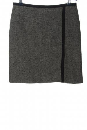 1.2.3 Paris Jupe en tweed gris clair-noir style décontracté