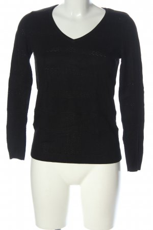 1.2.3 Paris V-Ausschnitt-Pullover schwarz Casual-Look