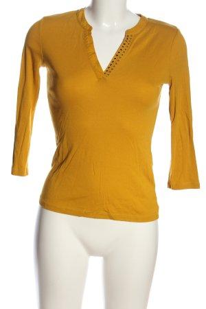1.2.3 Paris Maglia con scollo a V giallo pallido stile casual