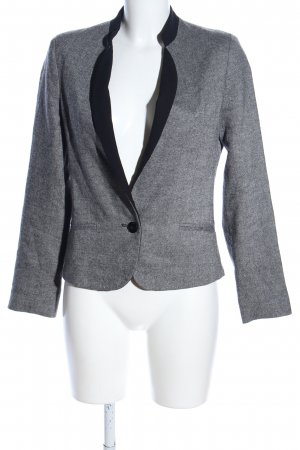 1.2.3 Paris Blazer en laine gris clair-noir moucheté style décontracté