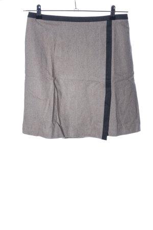1.2.3 Paris Jupe en laine noir-gris clair moucheté style décontracté