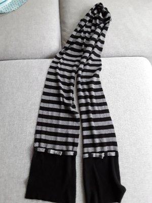 1.2.3. UN DEUX TROIS Paris Wełniany szalik czarny-srebrny Bawełna