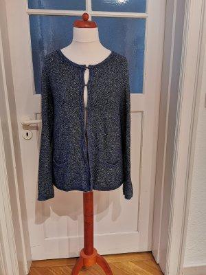 1.2.3 Paris Cardigan in maglia argento-blu acciaio