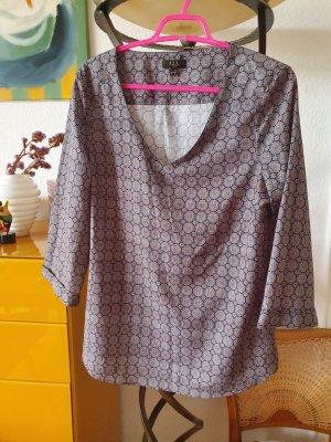 123 Paris Bluzka przez głowę czarny-szary Tkanina z mieszanych włókien