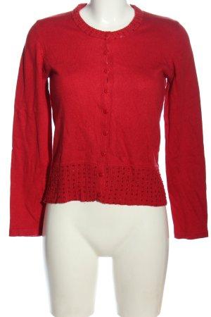 1.2.3. UN DEUX TROIS Paris Cardigan rosso stile casual